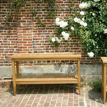Consolle moderna / in teak / rettangolare / da giardino