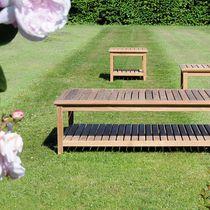 Tavolo d'appoggio moderno / in teak / quadrato / da giardino