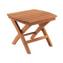 Tavolo d'appoggio classico / in teak / quadrato / da giardino