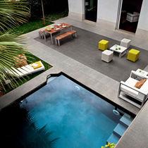 Piastrella da interno / per bagnasciuga di piscina / per pavimento / in gres porcellanato