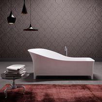 Vasca da bagno su piedi / in composito / in legno