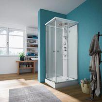 Box doccia multifunzione / a vapore / in vetro / per cromoterapia