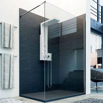 Pannello decorativo in resina / per stanza da bagno / da parete / aspetto pietra