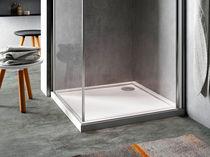 Piatto doccia rettangolare / in acrilico / con sifone ultrapiatto