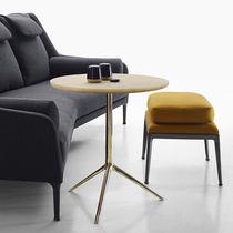 Tavolino moderno / in vetro / impiallacciato in legno / in ottone