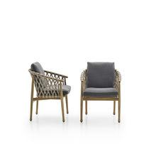 Sedia moderna / con braccioli / con cuscino rimovibile / in tessuto