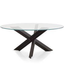 Tavolo moderno / in vetro / in acciaio / in acciaio inossidabile