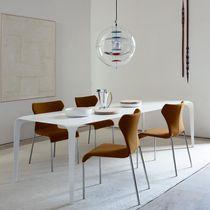 Tavolo da pranzo moderno / in Cristalplant® / rettangolare