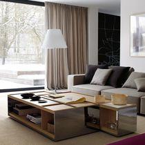 Tavolino basso moderno / in legno / in MDF / in lamiera d'acciaio