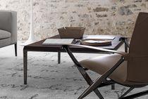 Tavolino basso moderno / in legno / in MDF / in ghisa di alluminio
