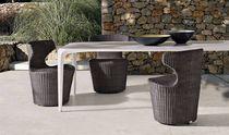 Tavolo moderno / in Cristalplant® / rettangolare / da giardino