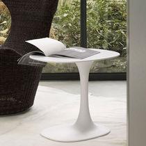Tavolo d'appoggio moderno / in Cristalplant® / ovale / da giardino