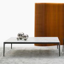 Tavolino basso moderno / in vetro / in marmo / in tessuto