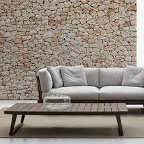 Tavolino basso moderno / in teak / rettangolare / da giardino