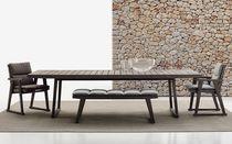 Tavolo moderno / in teak / rettangolare / da giardino