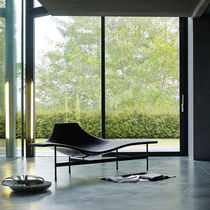 Chaise longue moderna / in pelle / in acciaio / di Jean-Marie Massaud