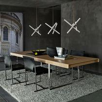 Tavolo moderno / in acciaio / in MDF / rettangolare
