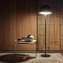 Tavolo d'appoggio moderno / in vetro / in acciaio / in MDF