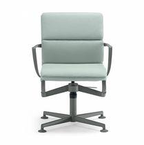 Sedia da ufficio moderna / con braccioli / imbottita / girevole