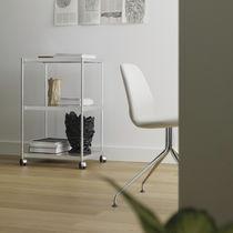 Carrello di servizio / in alluminio / in vetro / per uso residenziale