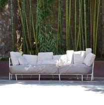 Divano moderno / da giardino / in tessuto acrilico / in acciaio