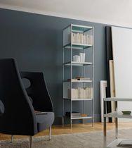 Scaffale modulare / moderno / in alluminio / in vetro