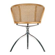 Sedia moderna / con braccioli / girevole / in ghisa di alluminio