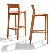 Sedia alta moderna / in teak / da esterno