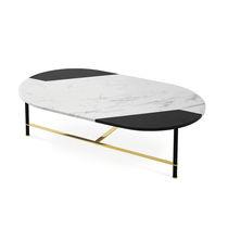 Tavolino basso moderno / in alluminio anodizzato / in marmo / ovale