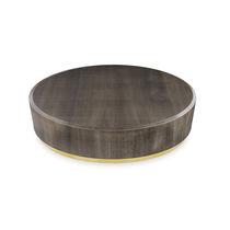 Tavolino basso moderno / in legno / rotondo / da interno