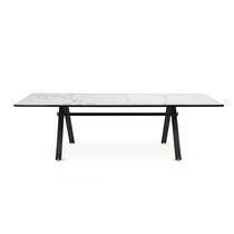 Tavolo moderno / in alluminio anodizzato / in marmo / rettangolare