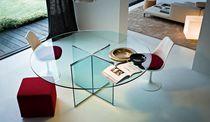Tavolo moderno / in vetro / in vetro temprato / rotondo