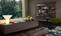 Credenza moderna / in legno / in legno laccato / in vetro