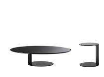 Tavolino basso moderno / in metallo / in metallo laccato / rotondo