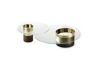 Tavolino basso moderno / in legno / in metallo / in vetro temprato