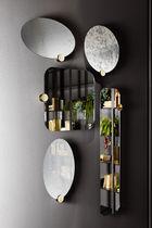 Specchio a muro / moderno / rotondo / in ottone