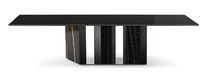 Tavolo moderno / in marmo / in cristallo / rettangolare