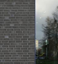 Mattone pieno / per facciata / nero / clinker