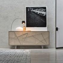 Credenza moderna / in legno / beige