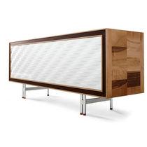 Credenza moderna / in legno laccato / in wengé / marrone