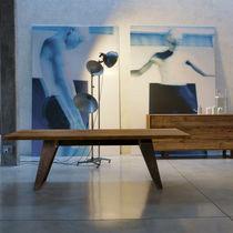 Tavolo rettangolare / indoor / moderno / con finitura ontano