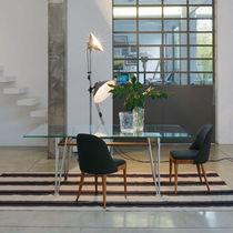 Tavolo rettangolare / da interno / moderno / in acciaio