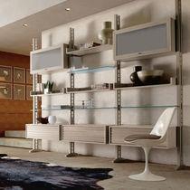 Scaffale modulabile / moderno / in legno / in vetro