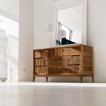 Cassettone moderno / in acciaio / in legno massiccio / in noce