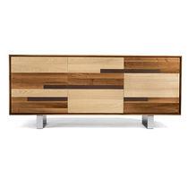 Credenza moderna / in metallo / in legno / marrone