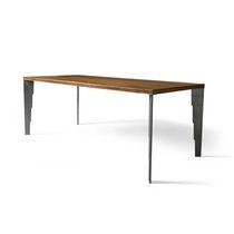 Tavolo rettangolare / da interno / moderno / in metallo