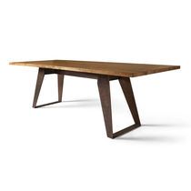 Tavolo rettangolare / indoor / moderno / in acciaio