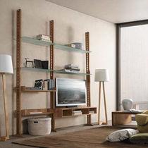 Scaffale moderno / in vetro / in legno / da sala