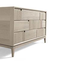 Cassettone moderno / in legno / beige