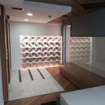 Piastrella da interno / da parete / in calcestruzzo / a motivi geometrici